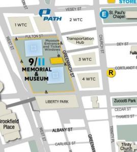 9-11 memorial map